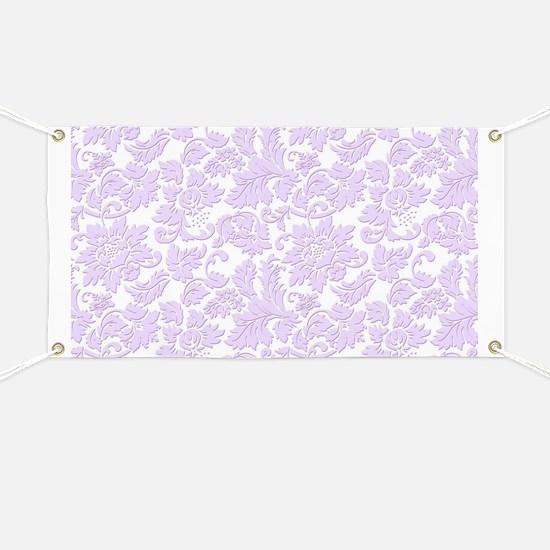 Elegant lavender and white vintage floral d Banner