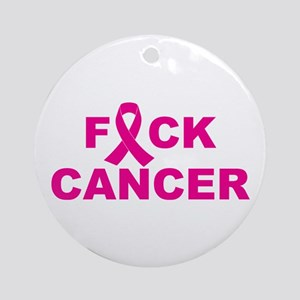 F*ck Cancer Ornament (round)
