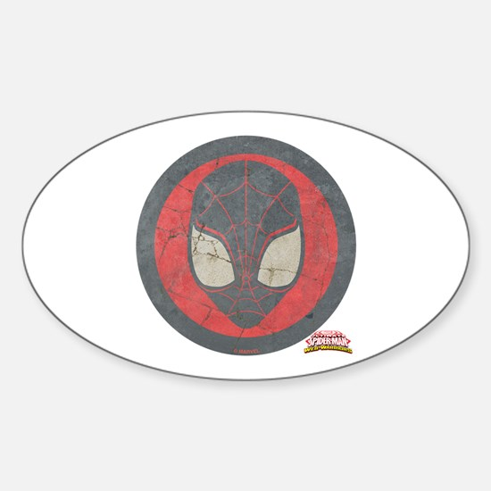 Ultimate Spider-Man Miles Morales I Sticker (Oval)
