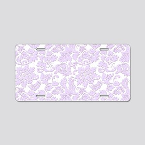 Elegant lavender and white Aluminum License Plate