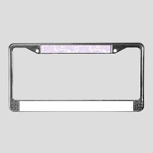 Elegant lavender and white vin License Plate Frame