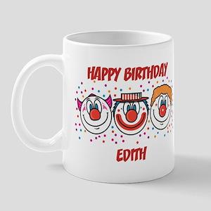Happy Birthday EDITH (clowns) Mug