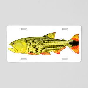 Golden Dorado Aluminum License Plate