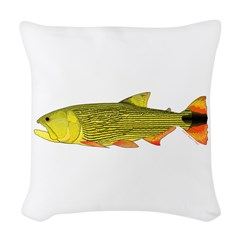 Golden Dorado Woven Throw Pillow