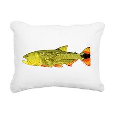 Golden Dorado Rectangular Canvas Pillow