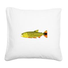 Golden Dorado Square Canvas Pillow