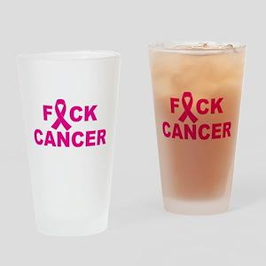 F*CK CANCER Drinking Glass