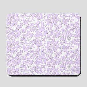 Elegant lavender and white vintage flora Mousepad