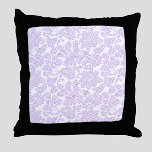 Elegant lavender and white vintage fl Throw Pillow