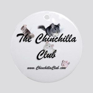 Chinchilla Club Round Ornament
