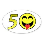 50 Oval Sticker