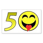 50 Rectangle Sticker