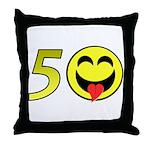 50 Throw Pillow