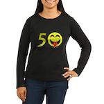 50 Women's Long Sleeve Dark T-Shirt