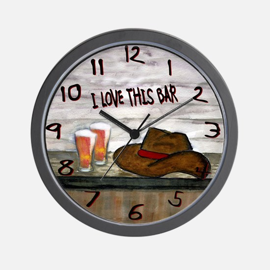 Funny Bar Wall Clock