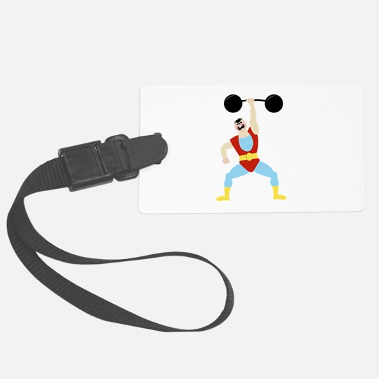 Weight Lifter Luggage Tag
