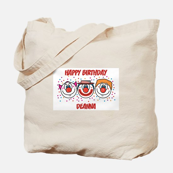 Happy Birthday DEANNA (clowns Tote Bag