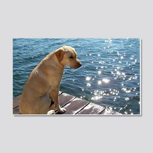 Yellow Labrador Wall Decal