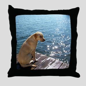 Yellow Labrador Throw Pillow