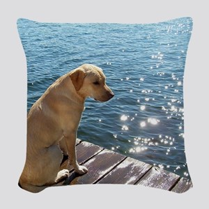 Yellow Labrador Woven Throw Pillow