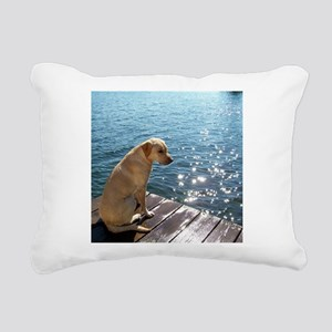 Yellow Labrador Rectangular Canvas Pillow