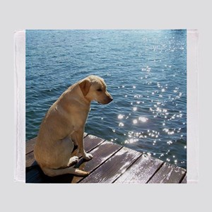 Yellow Labrador Throw Blanket