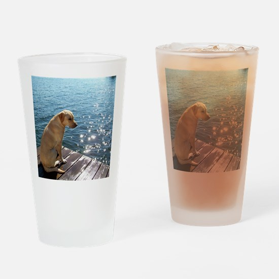 Yellow Labrador Drinking Glass