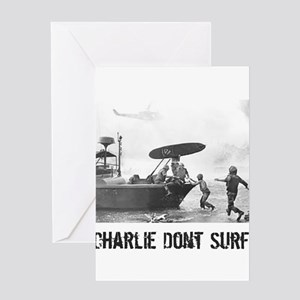 """""""Charlie Don't Surf"""" Greeting Cards"""