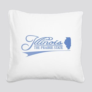 Illinois State of Mine Square Canvas Pillow