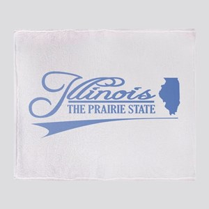 Illinois State of Mine Throw Blanket