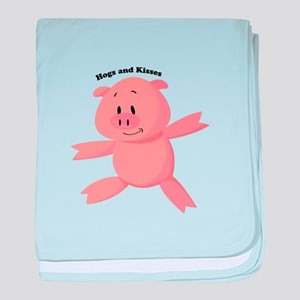 Hogs And Kisses baby blanket
