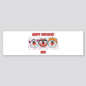 Happy Birthday NIKI (clowns) Bumper Sticker