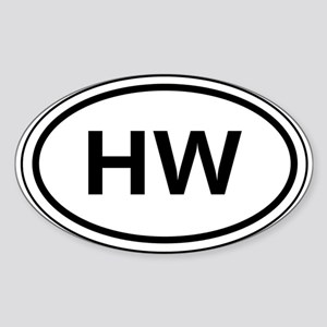 HW Car Oval Sticker