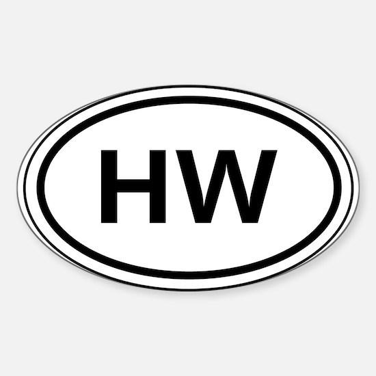 HW Car Oval Decal