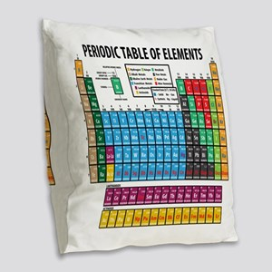 Periodic Table Burlap Throw Pillow