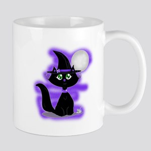 Halloween Cat and Mouse Mugs