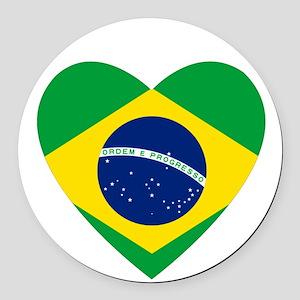 Brazil Round Car Magnet
