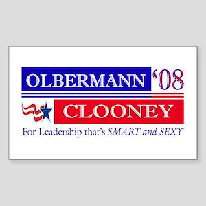 Olbermann_Clooney Rectangle Sticker