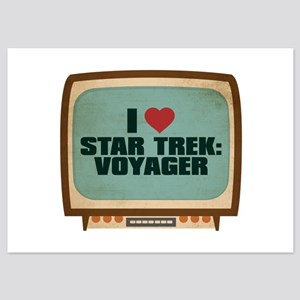 Retro I Heart Star Trek: Voyager 5x7 Flat Cards