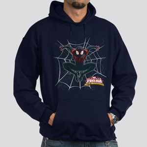 Ultimate Spider-Man Miles Morales Sp Hoodie (dark)