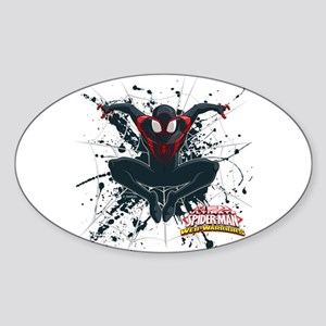 Ultimate Spider-Man Miles Morales S Sticker (Oval)