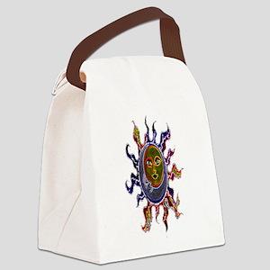 Neon Sun Moon Canvas Lunch Bag