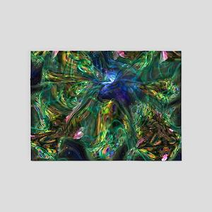 Hummingbird 5'x7'Area Rug