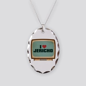Retro I Heart Jericho Necklace Oval Charm