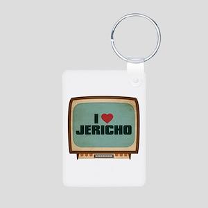Retro I Heart Jericho Aluminum Photo Keychain