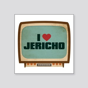 "Retro I Heart Jericho Square Sticker 3"" x 3"""