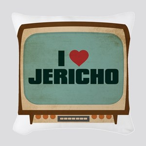 Retro I Heart Jericho Woven Throw Pillow
