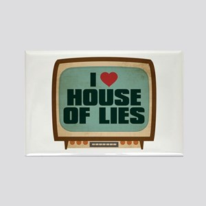 Retro I Heart House of Lies Rectangle Magnet