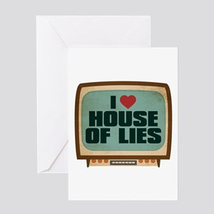 Retro I Heart House of Lies Greeting Card