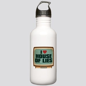 Retro I Heart House of Lies Stainless Water Bottle